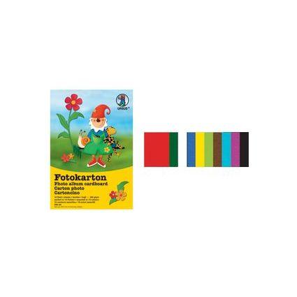 URSUS Fotokartonblock, DIN A4, 300 g/qm, 10 Blatt