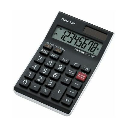SHARP Tischrechner EL-M700 TWH, Solar-/ Batteriebetrieb