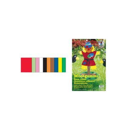 URSUS Moosgummi-Set, (B)200 x (H)300 mm, 20 Bogen
