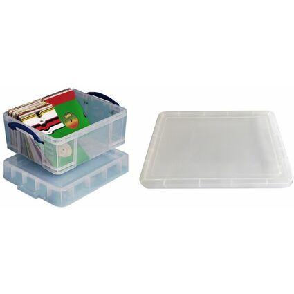 Really Useful Box Aufbewahrungsbox 18 Liter XL, transparent