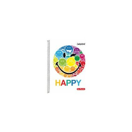 "herlitz Collegeblock SmileyWorld ""Black"", DIN A4"