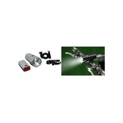 proFEX Fahrrad LED-Beleuchtungs-Set 10/20 Lux, mit Batterien