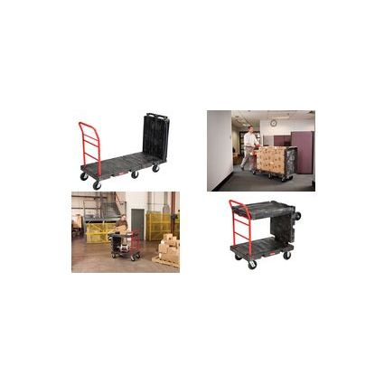 Rubbermaid Transportwagen, 2 Abstellflächen, konvertierbar