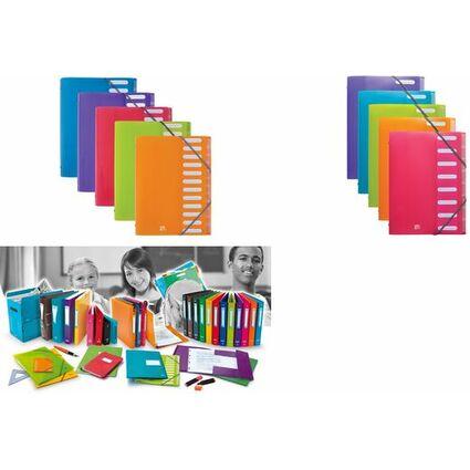 "ELBA Ordnungsmappe ""ELBA School Life"", 12 Fächer, DIN A4, PP"