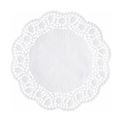 PAPSTAR Tortenspitze, rund, Durchmesser: 360 mm, weiß