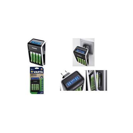 VARTA Ladegerät LCD Plug Charger, inkl. 4 x AA Akkus