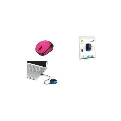 "Genius Optische Notebook Maus ""Micro Traveler 9000R"", pink"