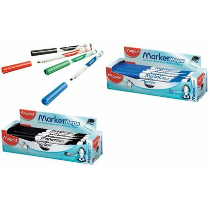 Maped Whiteboard-Marker Marker'Peps, schwarz, 12er Display