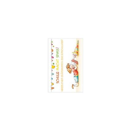 "SUSY CARD Schulanfangs-Grußkarte ""Scribbles"""