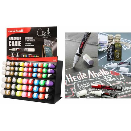 uni-ball Kreidemarker Chalk, 63er Display