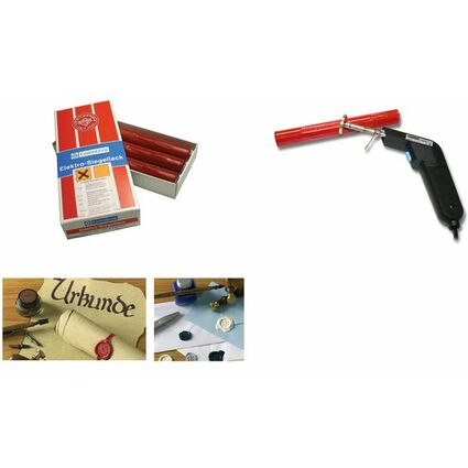 Gutenberg Siegellack Elektrolack, zinnoberrot