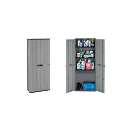 ok Kunststoff-Schrank, 3 Einlegeböden, Höhe: 1.635 mm, PP