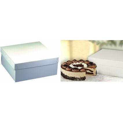 PAPSTAR Torten-Karton mit Deckel, Maße: 300 x 300 x 130 mm