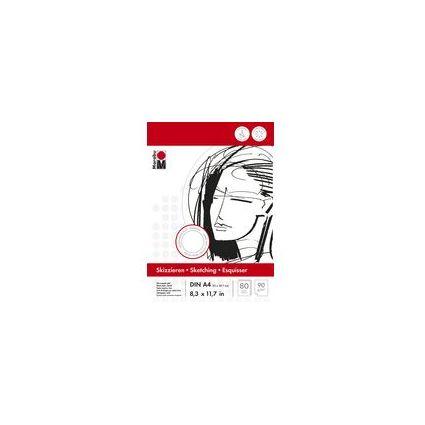 Marabu Skizzenblock, DIN A4, 90 g/qm, 80 Blatt