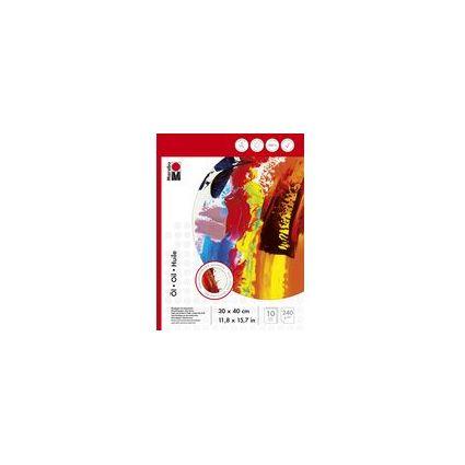 Marabu Ölmalblock, 300 x 400 mm, 240 g/qm, 10 Blatt