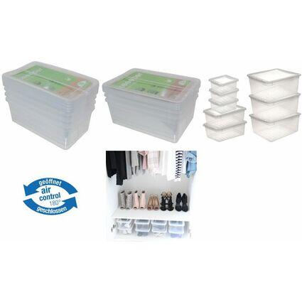 "keeeper Aufbewahrungsboxen-Set ""bea"", 4x 5,6 Liter, PP"