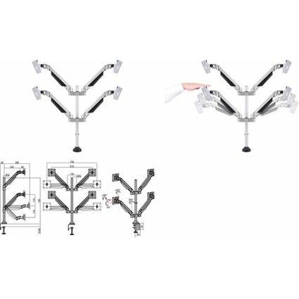 ANDERS + KERN TFT/LCD-Monitorarm Planeo Quadro, schwarz