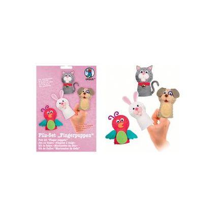 "URSUS Bastelfilz-Set Fingerpuppen ""Haustiere"""