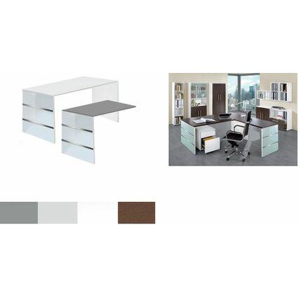 kerkmann Wangen-Anbau-Schreibtisch LUGANO, (H)750 mm, weiß