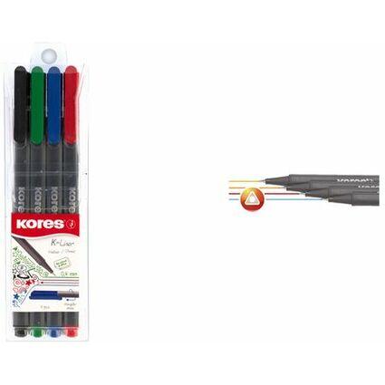 """Kores Fineliner """"K-Liner"""", Strichstärke: 0,4 mm, 10er Etui"""