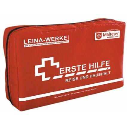 Leina Erste-Hilfe Reise- und Haushalt-Set, 27-teilig, rot