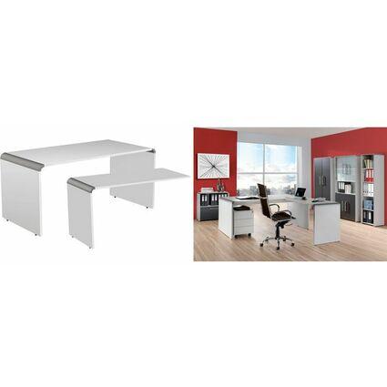 kerkmann Wangen-Schreibtisch Modus, (B)1.600, weiß