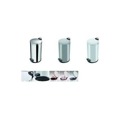 Hailo Tret-Abfalleimer T2.20, rund, 20 Liter, weiß