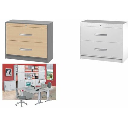 kerkmann h ngeregistraturschrank tec art buche silber 3050 bei g nstig kaufen. Black Bedroom Furniture Sets. Home Design Ideas