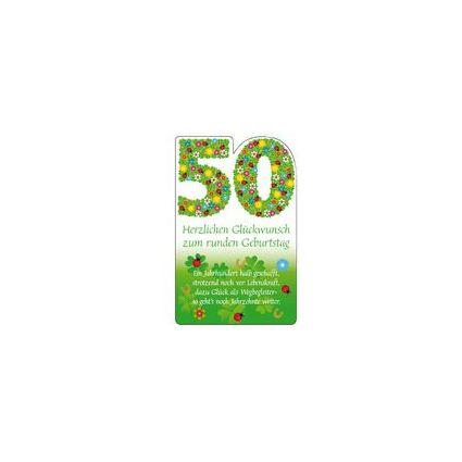"""SUSY CARD Geburtstagskarte - 50. Geburtstag """"Blumenfond"""""""