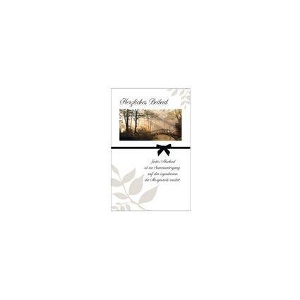"""SUSY CARD Trauerkarte """"Brücke im Wald"""""""