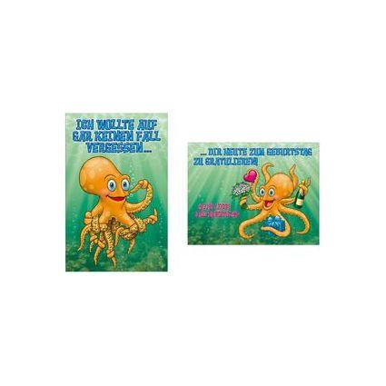 """SUSY CARD Geburtstagskarte - Humor """"Krake"""""""