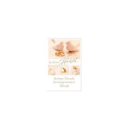 """SUSY CARD Hochzeitskarte für Geldschein """"zwei Tauben"""""""