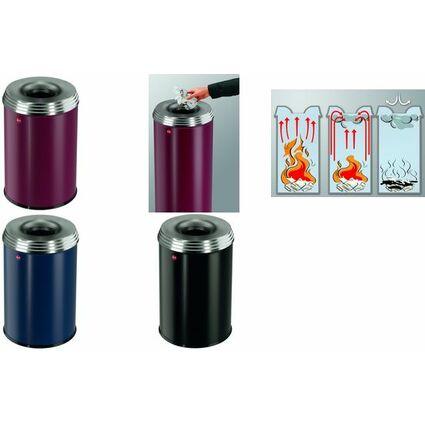 Hailo Papierkorb ProfiLine safe pro 30, 30 Liter, bordeaux