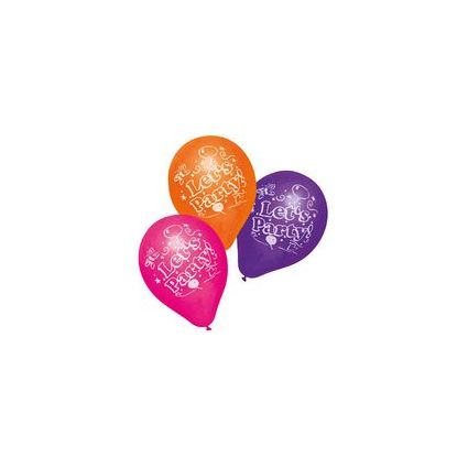"SUSY CARD Luftballons ""Let's Party"", farbig sortiert"