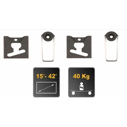 shiverpeaks BASIC-S Flachbildschirm-Wandhalterung, schwarz