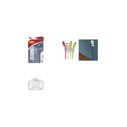 3M Command Kabel-Clip, Kunststoff, transparent