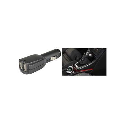 uniTEC USB-KFZ-Ladegerät, 2 x USB Kupplung