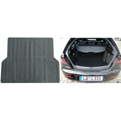 uniTEC KFZ-Kofferraummatte, schwarz, zuschneidbar