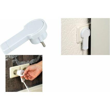 uniTEC Flach-Schutzkontakt-Stecker, Farbe: schwarz