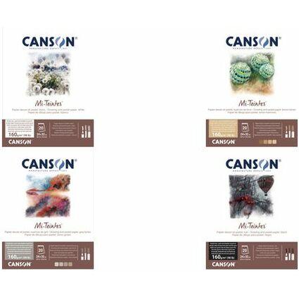 CANSON Künstlerpapier Mi-Teintes, im Block, 240 x 320 mm