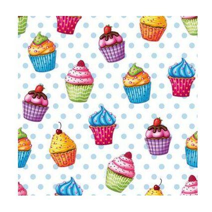 """PAPSTAR Motivservietten """"Cupcakes"""", 330 x 330 mm"""