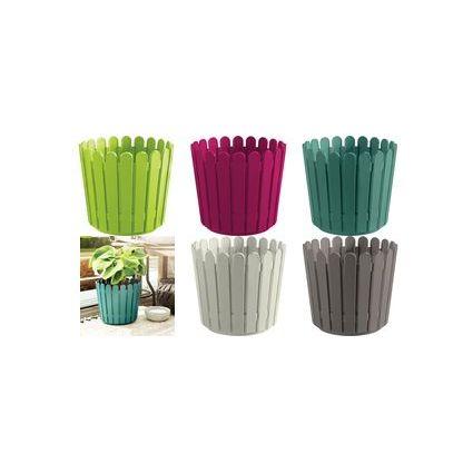 emsa Blumenkübel LANDHAUS, rund, Durchm.: 300 mm, grün