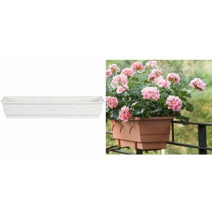 emsa Blumenkasten AQUA COMFORT LAGO, (B)1.000 mm, weiß