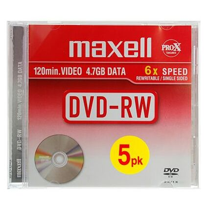 maxell DVD-RW 120 Minuten, 4,7 GB, 6x, Jewel Case