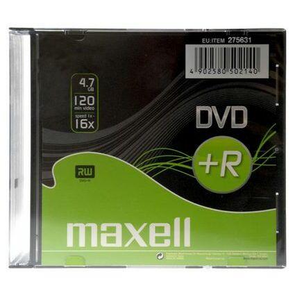 maxell DVD+R 120 Minuten, 4,7 GB, 16x, Slim Case