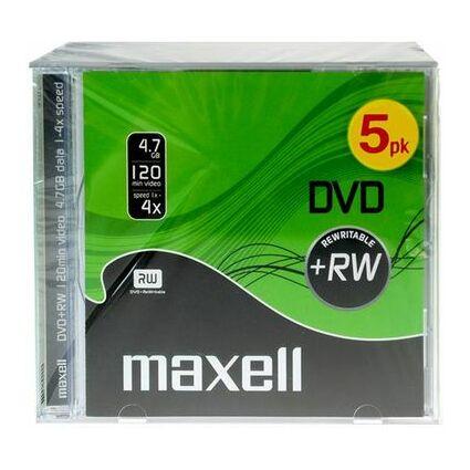 maxell DVD+RW 120 Minuten, 4,7 GB, 4x, Jewel Case