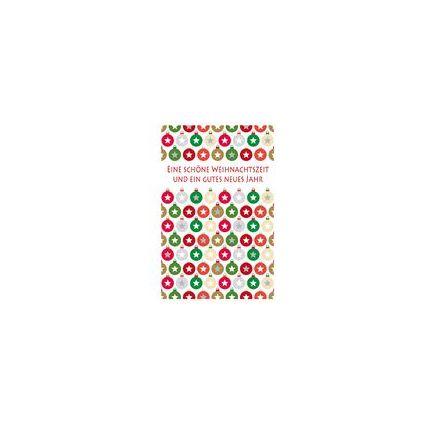 """SUSY CARD Weihnachtskarte für Geldschein """"Minikugeln rot"""""""