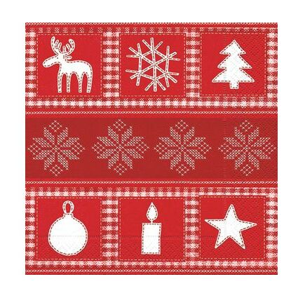 """SUSY CARD Weihnachts-Motivservietten """"Elmar rot"""""""