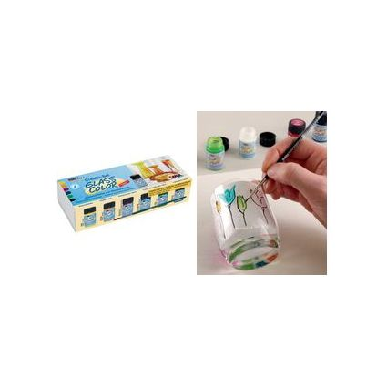 "KREUL Glasmalfarbe ""Glass Color"", Creativset 6 x 20 ml"