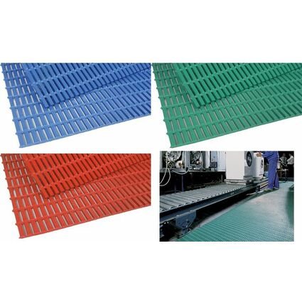 miltex Arbeitsplatzmatte Heron Floorline, (B)910 mm, rot